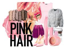 #pinkhair by tzortziadel on Polyvore featuring polyvore, beauty, NARS Cosmetics, Urban Decay, Christian Dior, Cynthia Rowley, Chloé, The Body Shop, Diane Von Furstenberg, ESCADA, Christian Louboutin and pinkhair