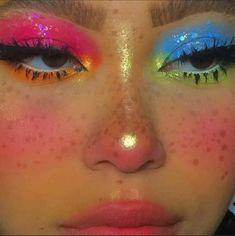 Cute Makeup Looks, Makeup Eye Looks, Eye Makeup Art, Colorful Eye Makeup, Pretty Makeup, Skin Makeup, Eyeshadow Makeup, Maybelline Eyeshadow, Makeup Tutorials