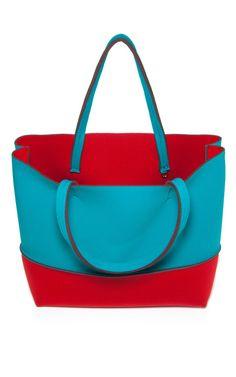 Turquoise/Red Beach Bag by Leghila