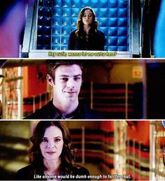 """Hey cutie, wanna let me outta here?"" - Hannibal Bates (as Caitlin) #TheFlash"