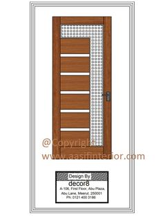 Natural Veneer Latest Door Design - Aasif Interior Designer & Decorator Latest Door Designs, Modern Interior Design, Lockers, Locker Storage, Doors, Kit, Natural, Furniture, Home Decor