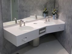 Doppel-Waschtischanlage