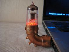 Pentode USB flash drive Steampunk by SlavaTech Gadgets And Gizmos, Cool Gadgets, Usb Drive, Usb Flash Drive, Rv Accessories, Cool Tech, Iphone, Steampunk, Geek Stuff