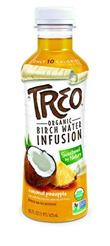 Treo - Coconut Pineapple, Organic Birch Water Infused Beverage, 16 Fl oz. (Pack of 12) >>> Click on the image for additional details.