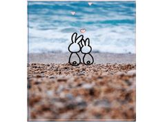 картинка, анимация, море, отдых, лето, пляж, конец лета, бархатный сезон, двое, романтика, курортный роман, зая моя, зайка, любовь, морковь