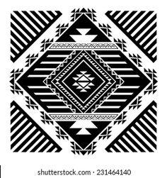 Aztec-Navajo vector set | Stock Photo and Image Collection by Emre Tarimcioglu | Shutterstock Native American Patterns, Native American Symbols, Native American Design, Motif Navajo, Navajo Pattern, Arte Tribal, Aztec Art, Motifs Aztèques, Indian Quilt
