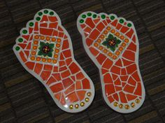 Mosaic Stepping Stones for the Garden  Set of by MosaicsbyMadonna, $75.00