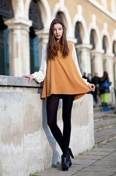 London Fashion Week - Street Style Fall 2012 - Harper's BAZAAR #London #Fashiongetaways #HouseofFraserLoves