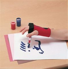 Easy Grip Art Tools for Limited Hand Dexterity Adaptive Equipment, Handicap Equipment, Pencil Grip, Assistive Technology, Cerebral Palsy, Occupational Therapy, Special Needs, Fine Motor Skills, Art Therapy