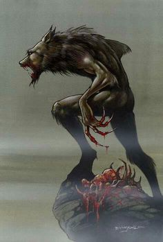 The werewolf does not need any other weapons to use to help it kill. It is it's own weapon. Capable of tearing man apart with ease. It is clothed with fur. Seeing a werewolf with jeans, tee-shirt or a jacket is just this...STUPID.