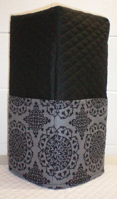Check out this item in my Etsy shop https://www.etsy.com/listing/197319375/black-gray-damask-medallion-quilted