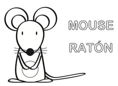 Ratón para colorear. Puedes descargarlo gratis en: http://dibujos-para-colorear.euroresidentes.com/2013/04/raton-para-colorear.html