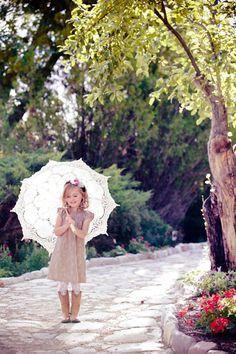 Cute little girl pose.