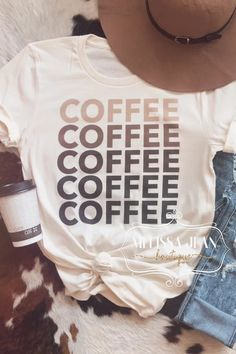 50 Shades of Coffee Tee – Melissa Jean Boutique 50 Shades, Funny Shirts, 50th, Unisex, Craft Business, Boutique, Coffee, Tees, Cloths