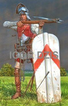1450 c. Crossbowman. Siglo XV.