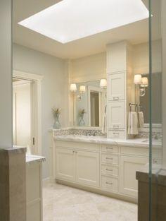 spa-like bathroom huge skylight