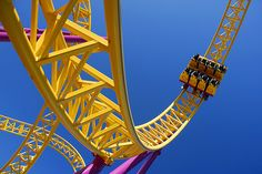 great #photograph of a roller coaster