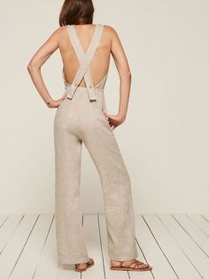 Summer Fridays: coming soon. This is a relaxed fitting jumpsuit with an elastic waistband, an open back and cross-back straps. http://bit.ly/2oBoeC2