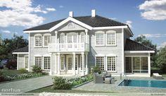Bilderesultat for vindu sveitservilla New England Homes, England Houses, Home Fashion, Future House, Beautiful Homes, House Plans, Sweet Home, House Ideas, Villa