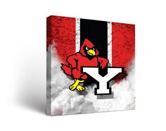 York Cardinals Vintage Canvas Print Square