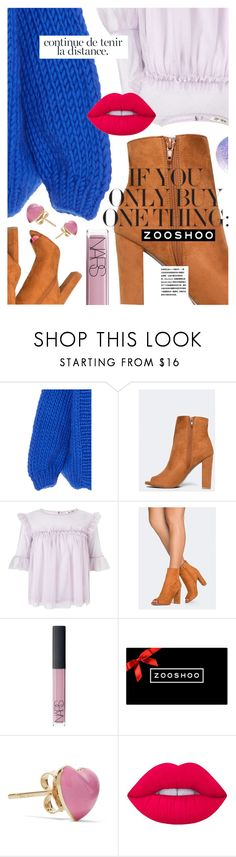 """""""Fall Boots featuring ZOOSHOO.com"""" by cultofsharon ❤ liked on Polyvore featuring Miss Selfridge, NARS Cosmetics, Alison Lou and Lime Crime"""