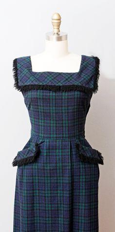 38cea4a30e29e2 Fabulous 1950 s Black Watch Tartan dress. Tartan Dress