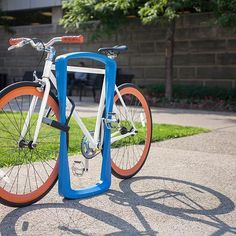 According to USA TODAY, the number of people who commute to work by bicycle increased about 60% over the last decade. Provide them a sleek and safe place to park with F+S bike racks. .  .  .  #bike #bikerack #sitefurniture #durable #