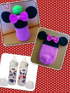 Minnie Mouse feeding bottle cover