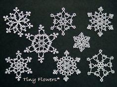 雪の結晶の標本 |Tiny Flowers* にゃんことてしごと ~猫とタティングレース~