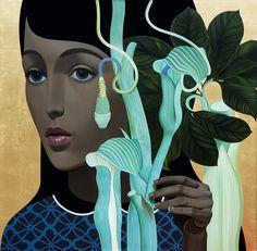 "Slava Fokk ""Botany""(Vintage Stories) 140x140cm oil on canvas 2015"