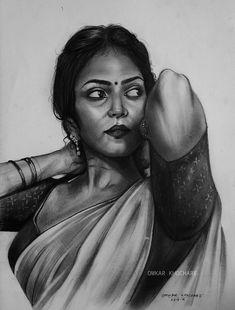 Abstract Pencil Drawings, Pencil Drawings Of Girls, Pencil Portrait Drawing, Cool Art Drawings, Beautiful Drawings, Pencil Sketching, Black Pen Sketches, Girl Drawing Sketches, Buddha Drawing