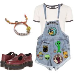 Untitled #3 by fairielana on Polyvore featuring Topshop, Dr. Martens and Venessa Arizaga