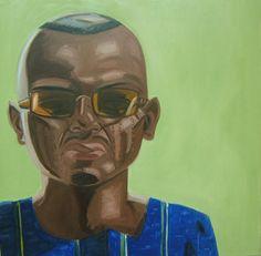 'Abi' oil on canvas, 100 x 100cms, 2007