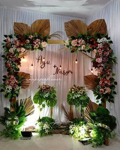 Birthday Decorations At Home, Wedding Hall Decorations, Engagement Decorations, Backdrop Decorations, Flower Decorations, Wedding Backdrop Design, Rustic Wedding Backdrops, Wedding Ceremony Backdrop, Sweet Table Wedding