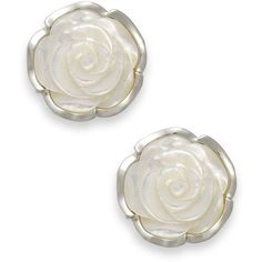 Sterling Silver Earrings, Mother of Pearl Flower Earrings ($120) ❤ liked on Polyvore featuring jewelry, earrings, no color, flower jewellery, sterling silver earrings, sterling silver jewellery, mother of pearl jewelry and flower earrings