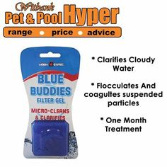 Use AQUACURE BLUE BUDDIES filter gel to assist with filtration after start-up. Check for Suction Leaks and available from Pet & Pool Hyper Witbank. #swimmingpool #caretips