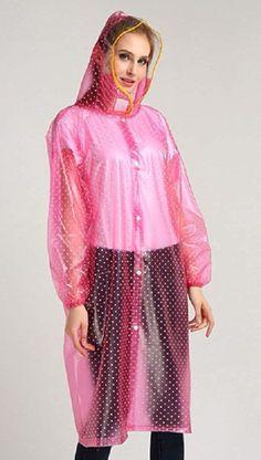 Pink Raincoat, Plastic Raincoat, Plastic Mac, Rain Wear, Macs, Rain Jacket, Windbreaker, Cover Up, Rain Coats