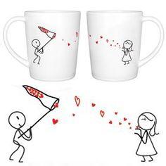 "BoldLoft ""Catch My Love"" Couple Coffee Mug Set-Cute Valentines Gifts,Valentines Pillowcases,Valentines Day Romantic Gifts,Unique Valentines Day Gifts by BoldLoft, http://www.amazon.com/dp/B000ZHFPV2/ref=cm_sw_r_pi_dp_Hiwarb1VA8FC0"