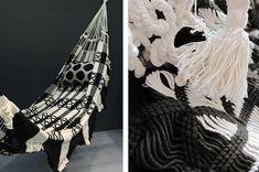 L'Aviva Home Bolivian black and white hammock   Remodelista