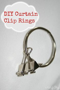 DIY Curtain Clip Rings / Sheets for Curtains! - Nest of Bliss  This is genius!!!! Will work perfect with some pretty pillowcases! Cheap pretty curtains for the rv!