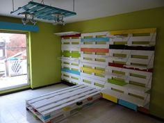 Chambre enfant complète en palettes / Pallets Kids room #Bed, #Bedroom, #Kids, #Pallets
