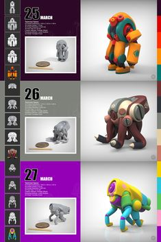 March of Robots - 31 ZBrush Created 3D Printed Robots!