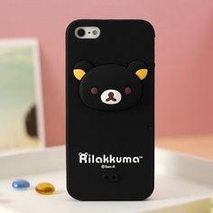 Rilakkuma Silicone iphone 5 case 3D Head Black  http://www.case2case.net/rilakkuma-silicone-iphone-5-case-3d-head-black.html