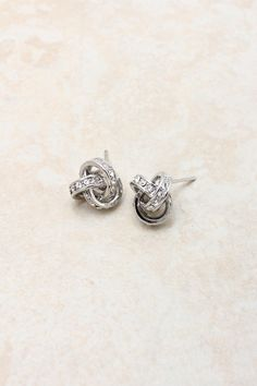 Infinity knot earrings