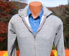 vintage 70s hoody sweatshirt heathered GRAY plain by skippyhaha, $28.00