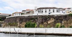 """The """"other side"""" of town of Angra do Heroísmo on Terceira Island in the Azores. www.jwamsterdam.com #island #portuguese #angradoheroismo #azores #portuguese #jwamsterdam #originalphotographersontumblr #church #architecture #açores #atlanticocean #iphoneography #cliffs"""