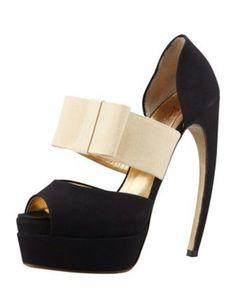 81ee5213b05 Horn-Heel Bow d  Orsay Pump by Walter Steiger at Bergdorf Goodman.are these  made for bow-legged women they need shoes too you know.