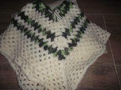 poncho en crochet para bebe
