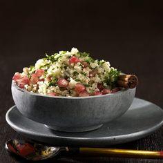 Schneller fruchtiger Salat - Couscous, Granatapfel, Petersilie