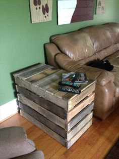 end tables made out of pallets - Google Search